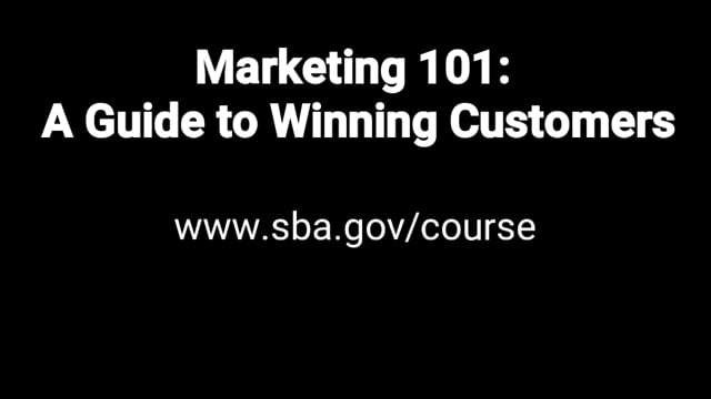 Free SBA Business Marketing Course