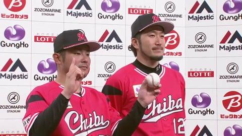 マリーンズ・石川投手・江村選手ヒーローインタビュー 2019/6/2 M-L