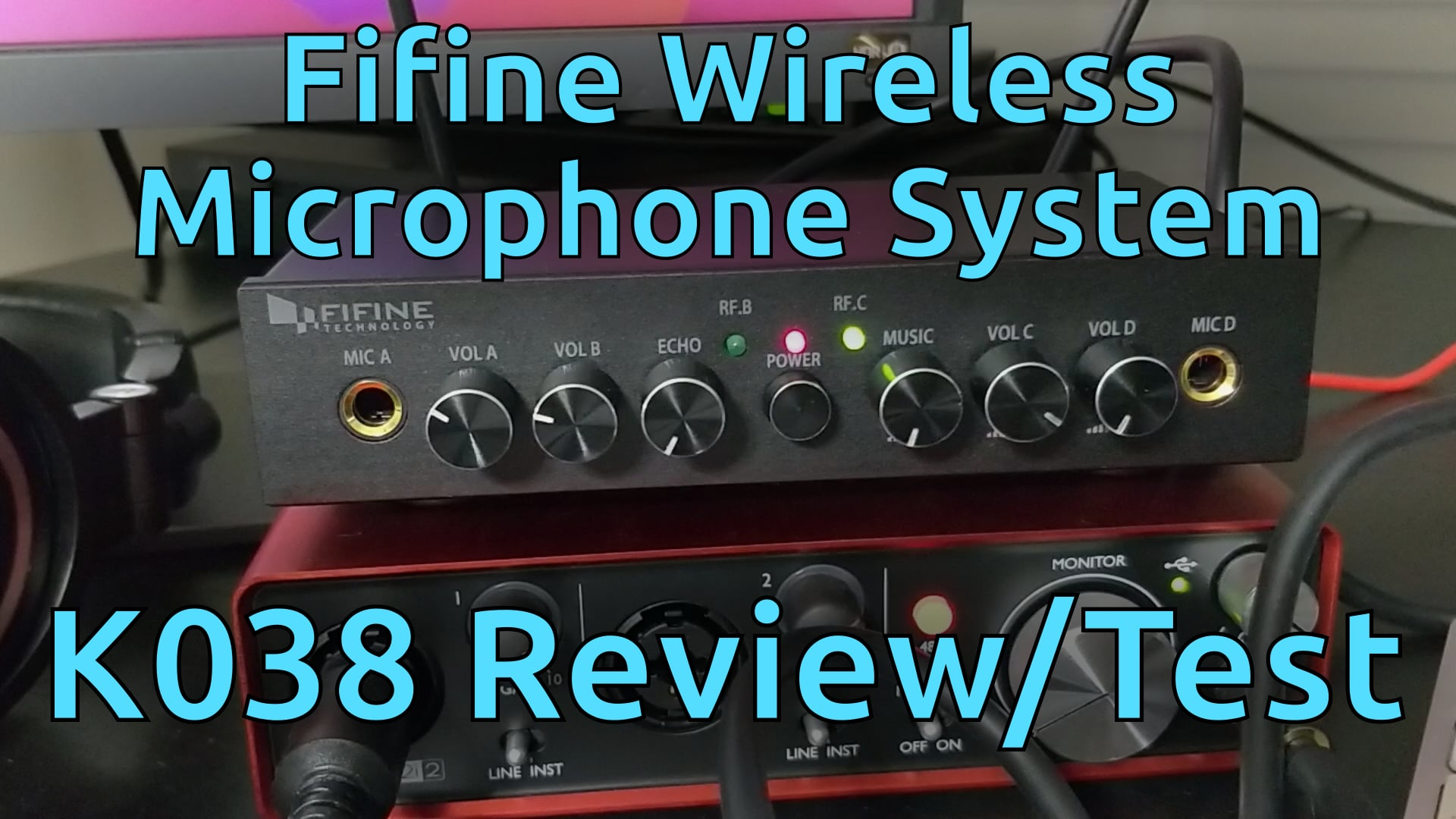 Fifine Wireless Microphone System K038 Review/Test