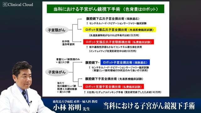 小林 裕明先生:当科における子宮がん鏡視下手術