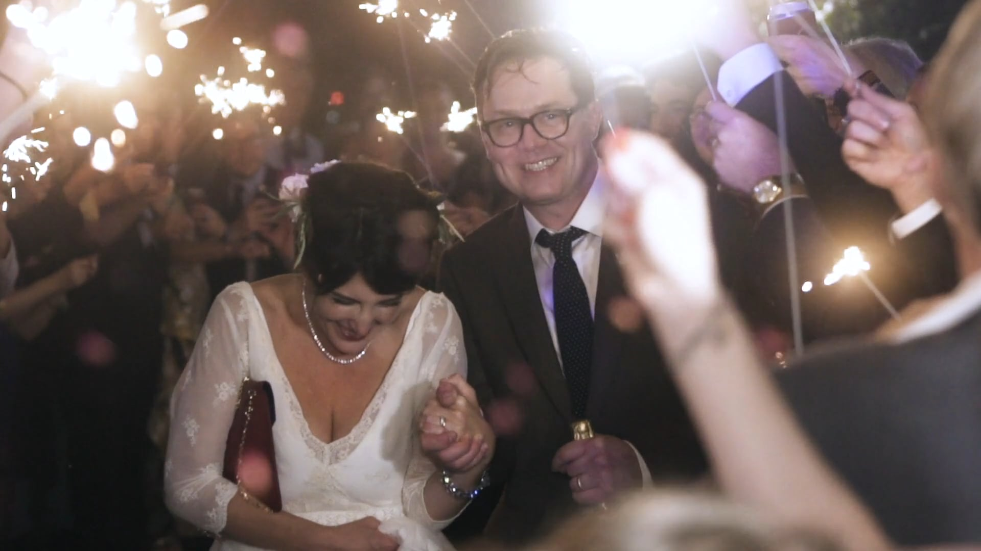 Oysters, Champagne, Fried Chicken & One Sparkler Exit to Remember | Miriam & Darrin