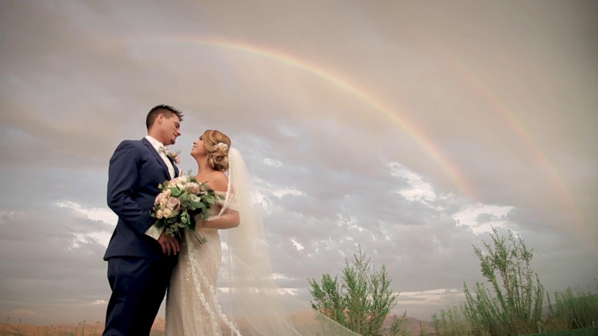 A California Rainbow Clears the Rain on an Unforgettable Evening | Dajana & Tony