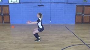 Single Leg Hop Forwards into Double Leg Landing