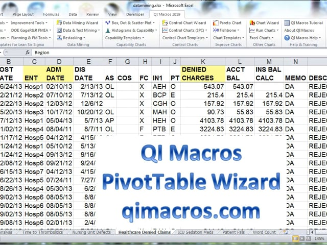 Data Mining Tools for Excel