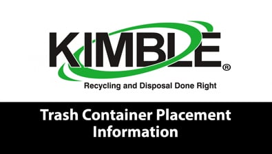 Thumbnail of video Trash Container Placement Information PSA