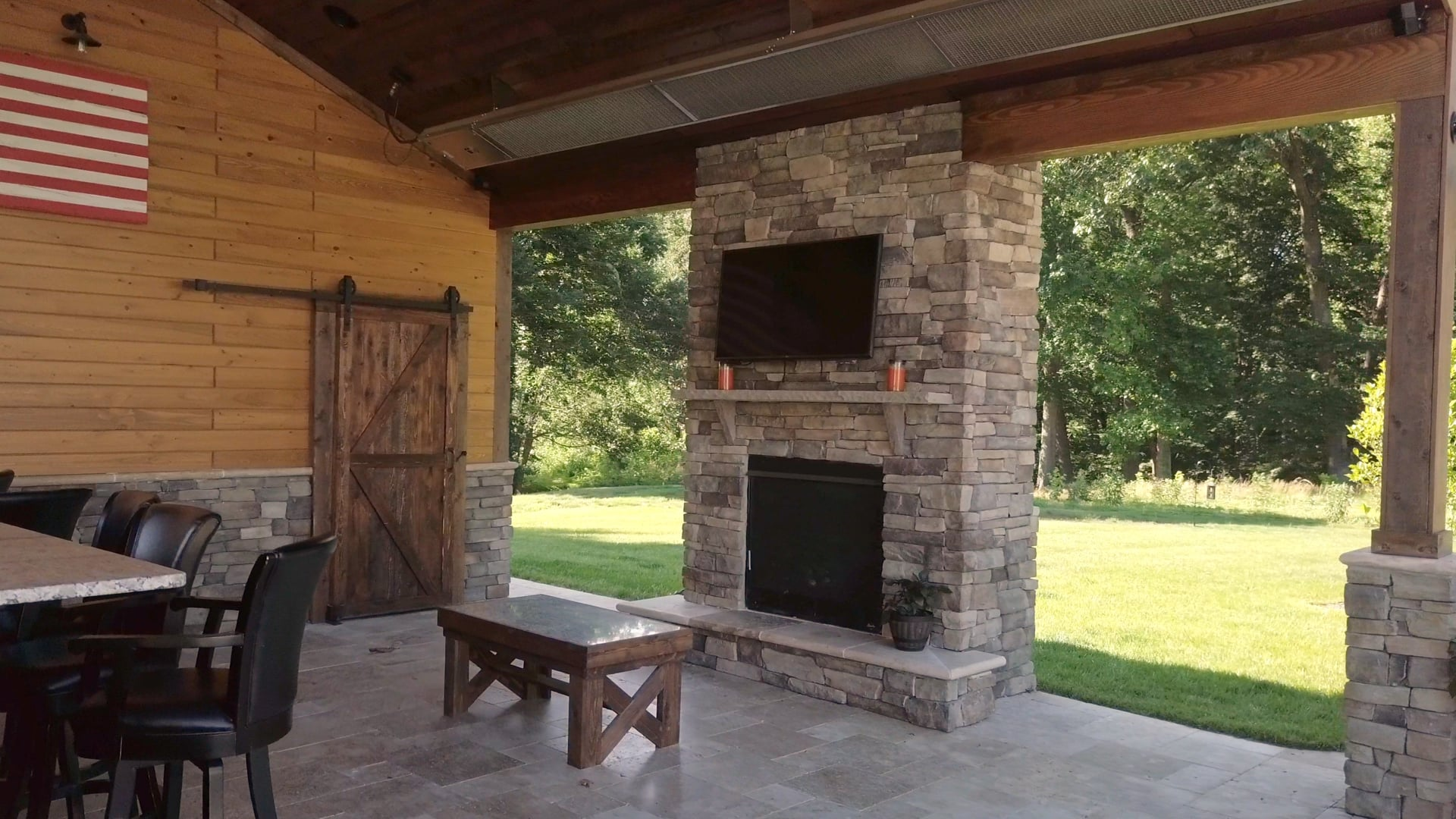 Golf Club Drive Pool & Covered Patio by Nelkoff Pools