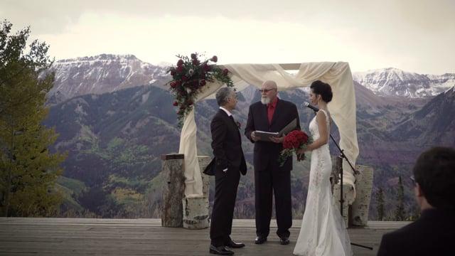 San Sophia Overlook Ski Resort Lodge - Rocky Mountains Park, Telluride CO - Wedding Highlights - Kenny + Tara - Sept 2017