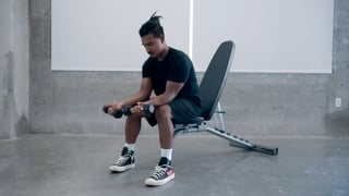 Wrist Curls (Supinated Grip) - Dumbbell