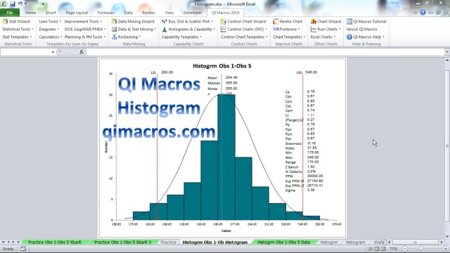 Draw a histogram in Excel