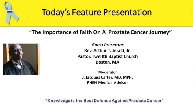 The Importance of Faith on a Prostate Cancer Journey with Rev. Arthur Jerald, Jr.
