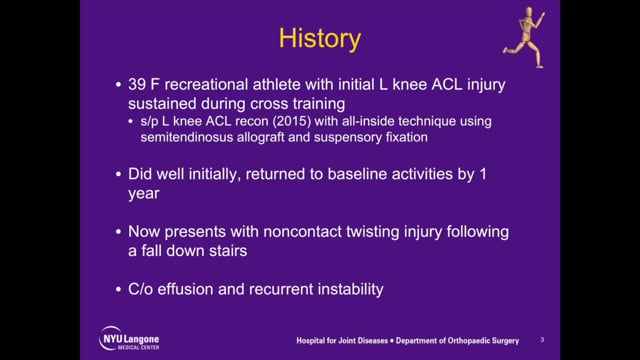 Femoral and Tibial Tunnel Bone Grafting for Stage 1 Revision ACL Reconstruction
