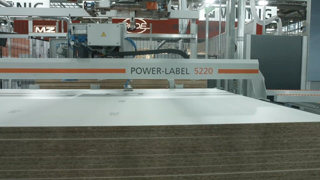 Power Label for increased label throughput in Nesting panel processing