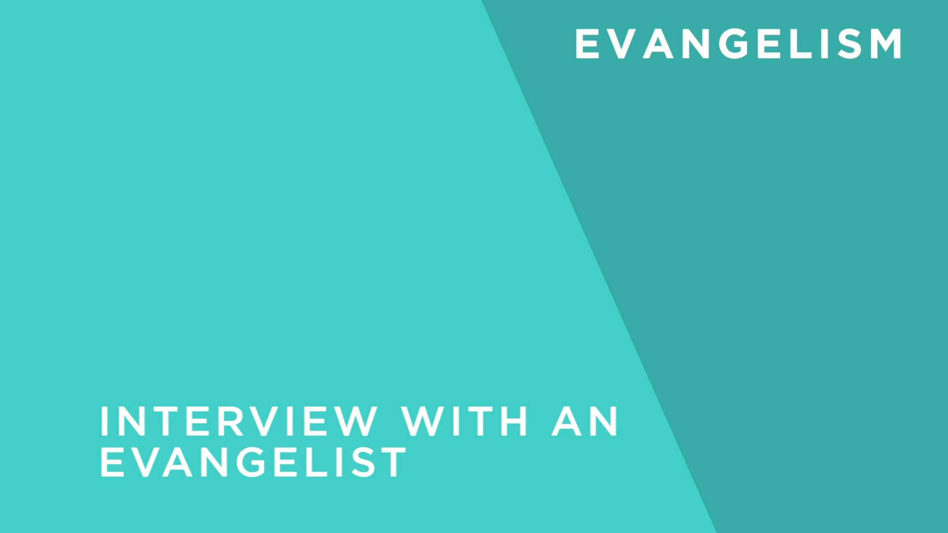 Interview With an Evangelist