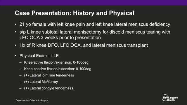 Lateral Meniscal Allograft Transplantation: Tapered Teardrop Technique