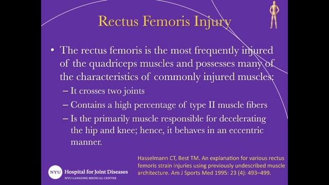 Repair of Rectus Femoris Tendon Proximal Avulsion