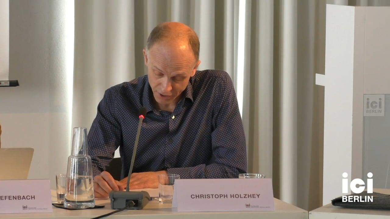 Talk by Christoph Holzhey