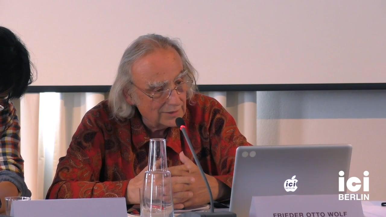 Talk by Frieder Otto Wolf