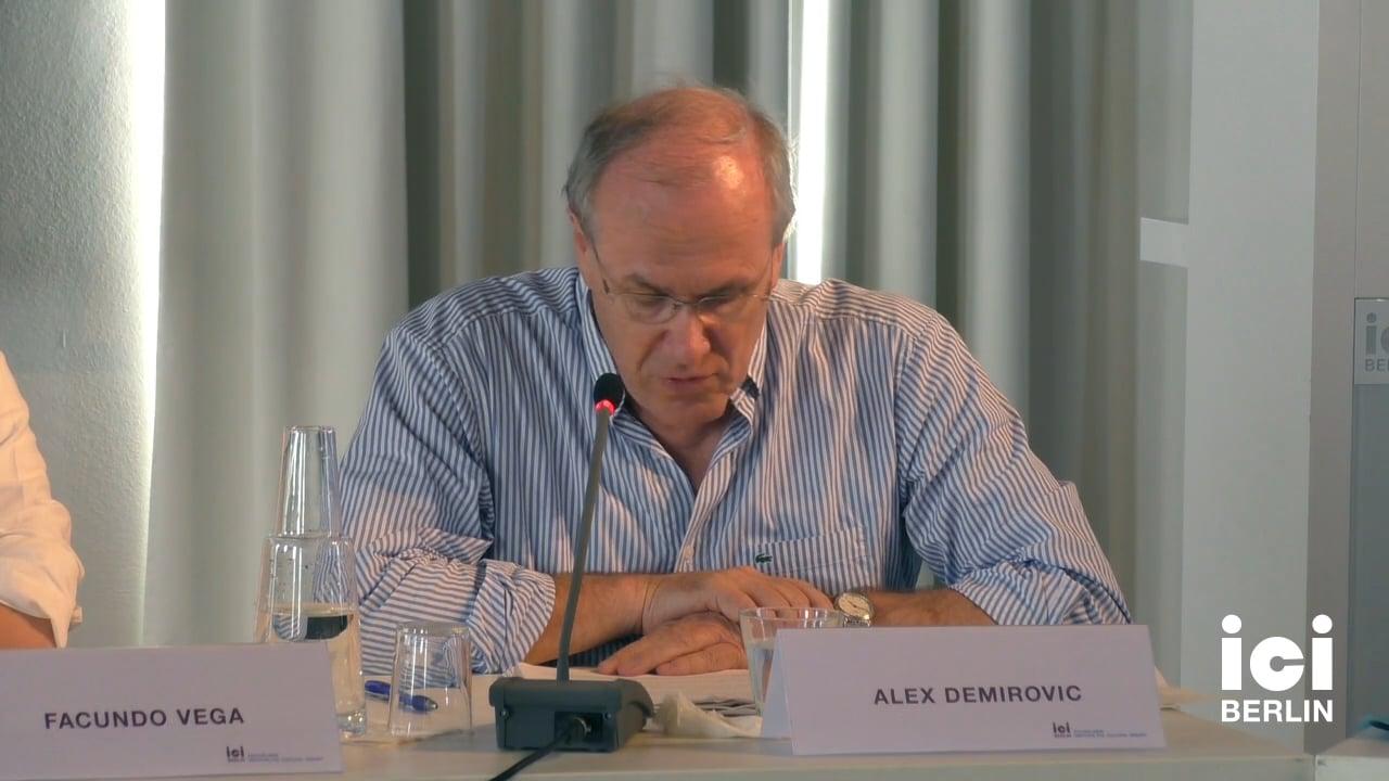 Talk by Alex Demirovic