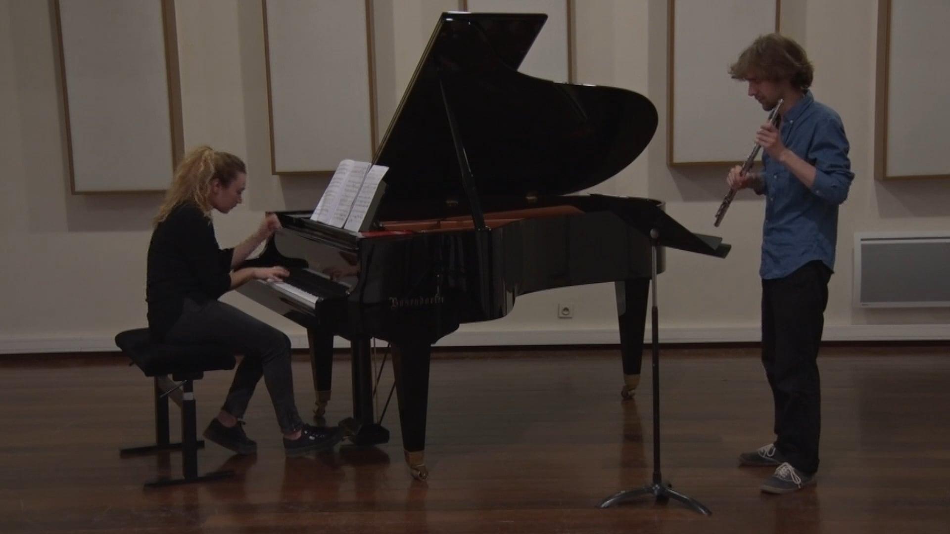 Muczynsky - Sonate pour flûte et piano - 2e mouvement