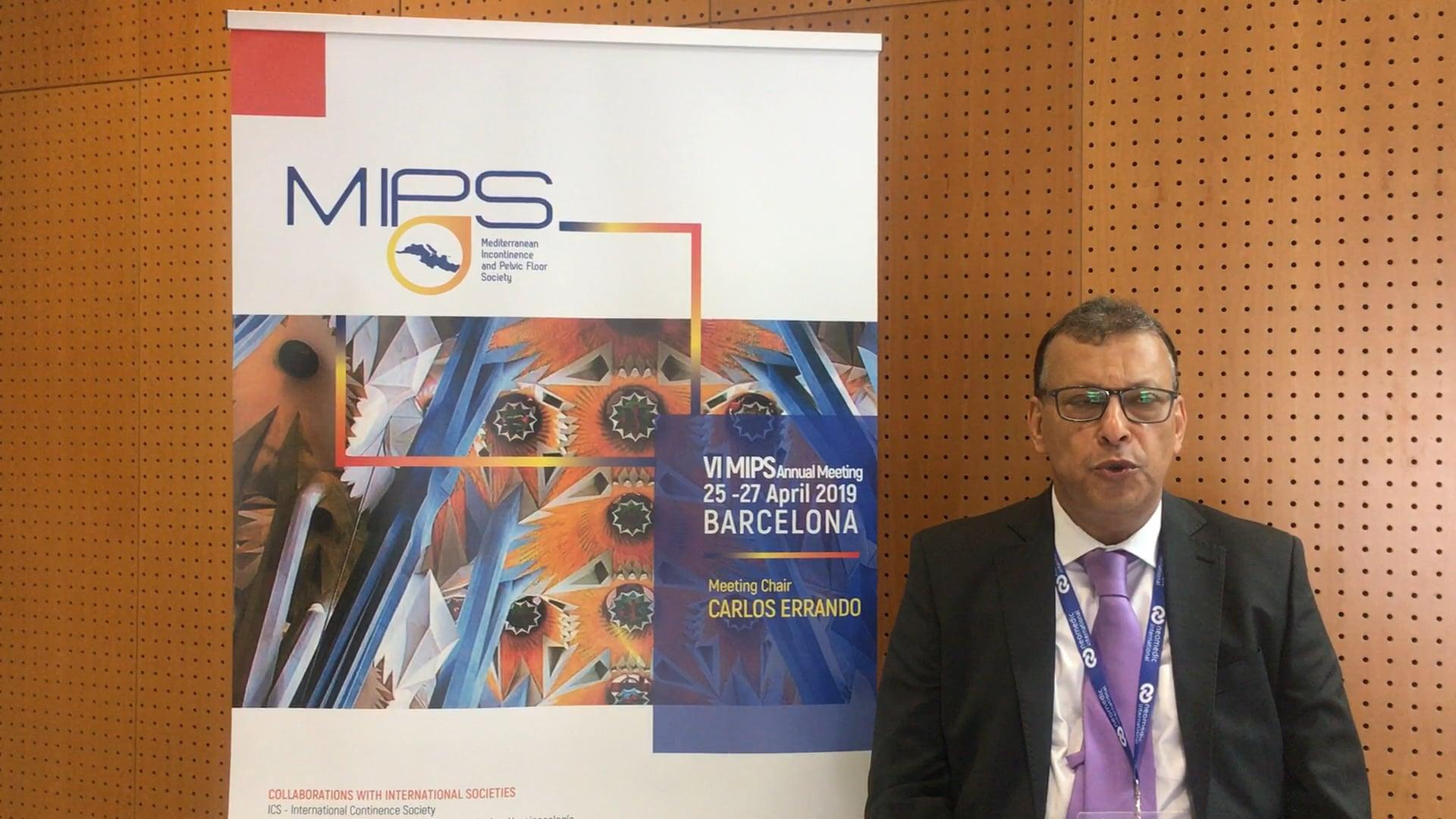 Diaa Rizk - MIPS President @ MIPS ANNUAL CONGRESS 2019   Barcellona - Arabic