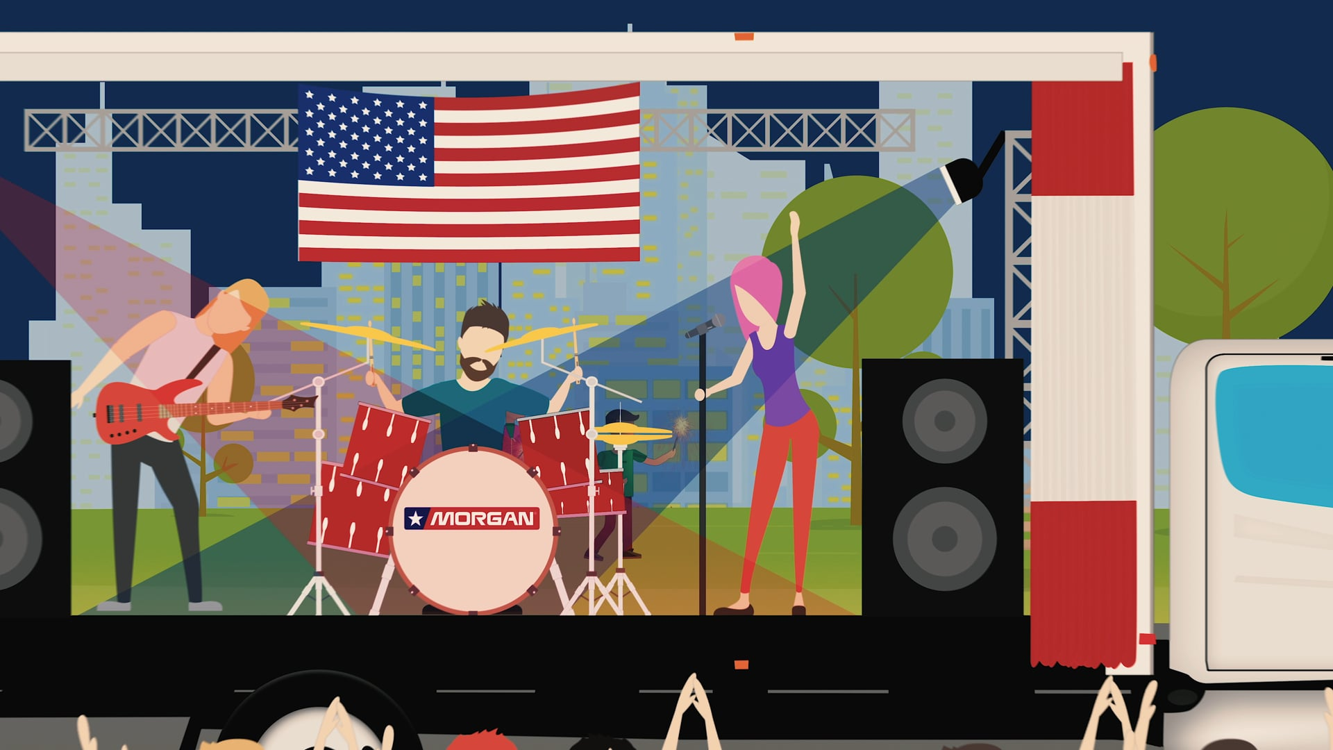 Motion-Graphics & Animation—Holiday 4th of July