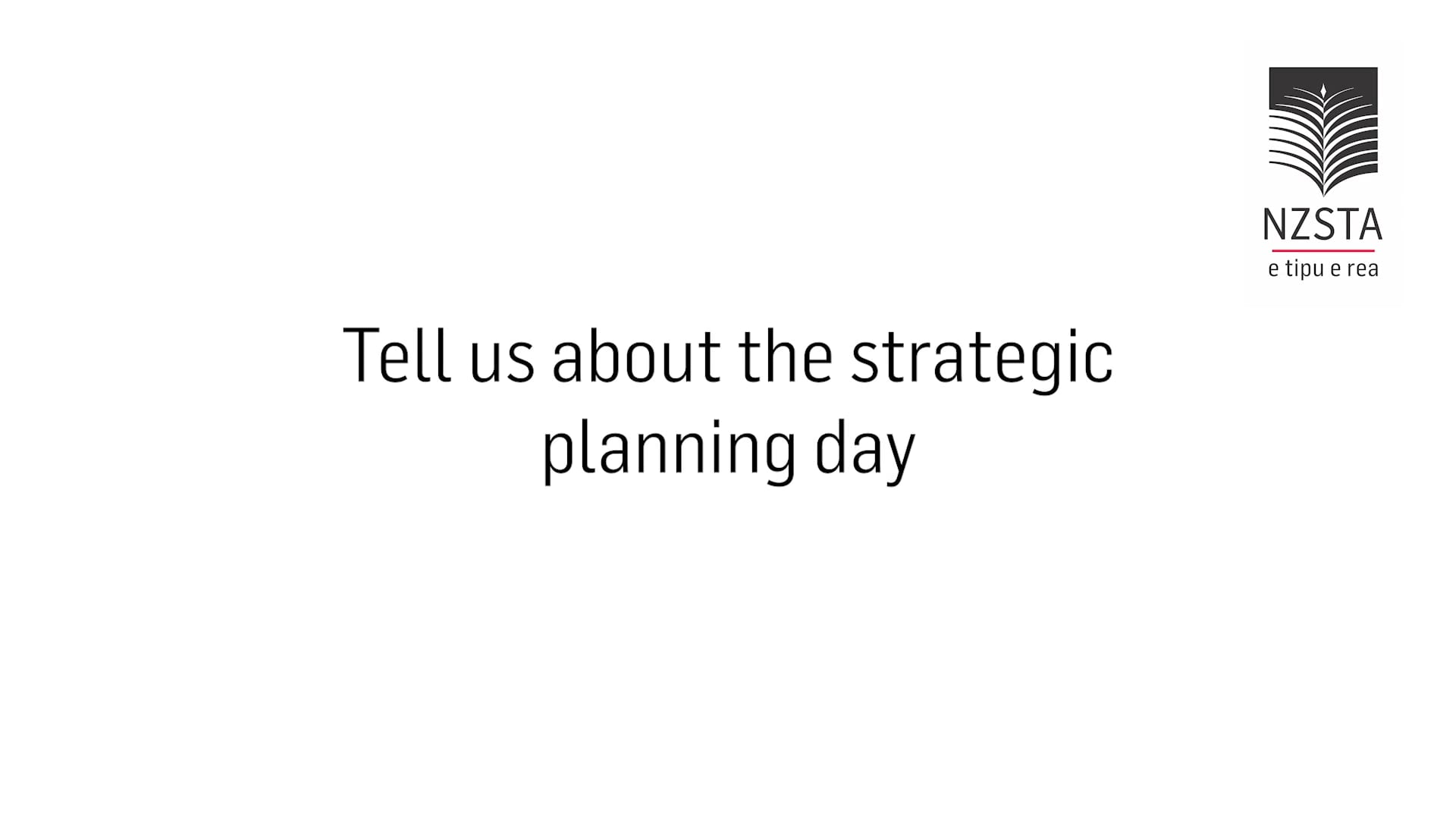 About the strategic planning day