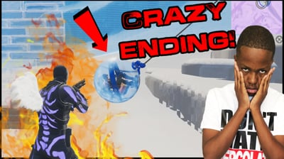 The Craziest Ending! I Didn't Think I Would Make It Out Alive! - Fortnite Gameplay