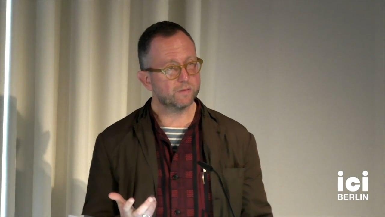Talk by John David Rhodes