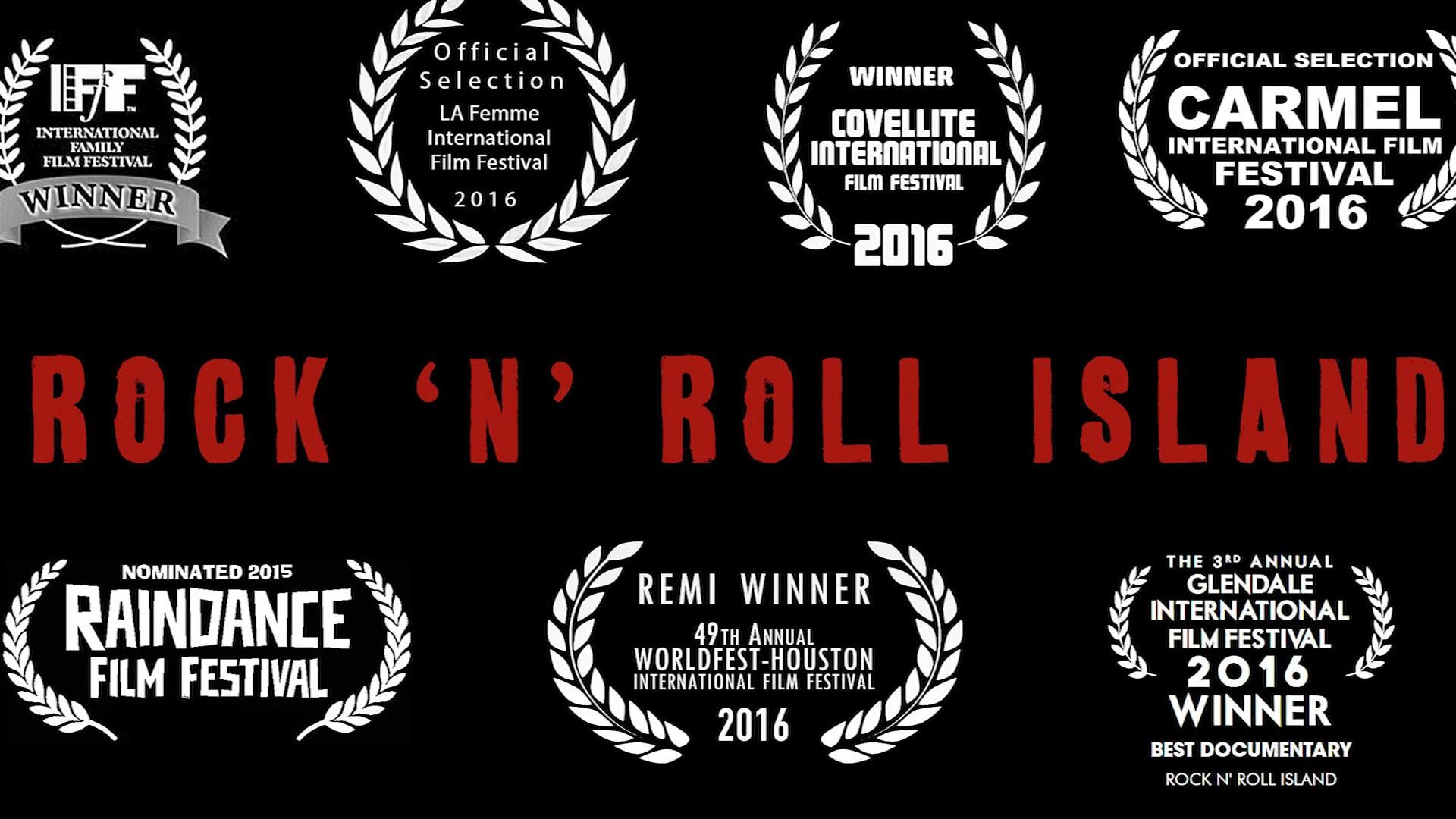 A trailer for Rock n Roll Island