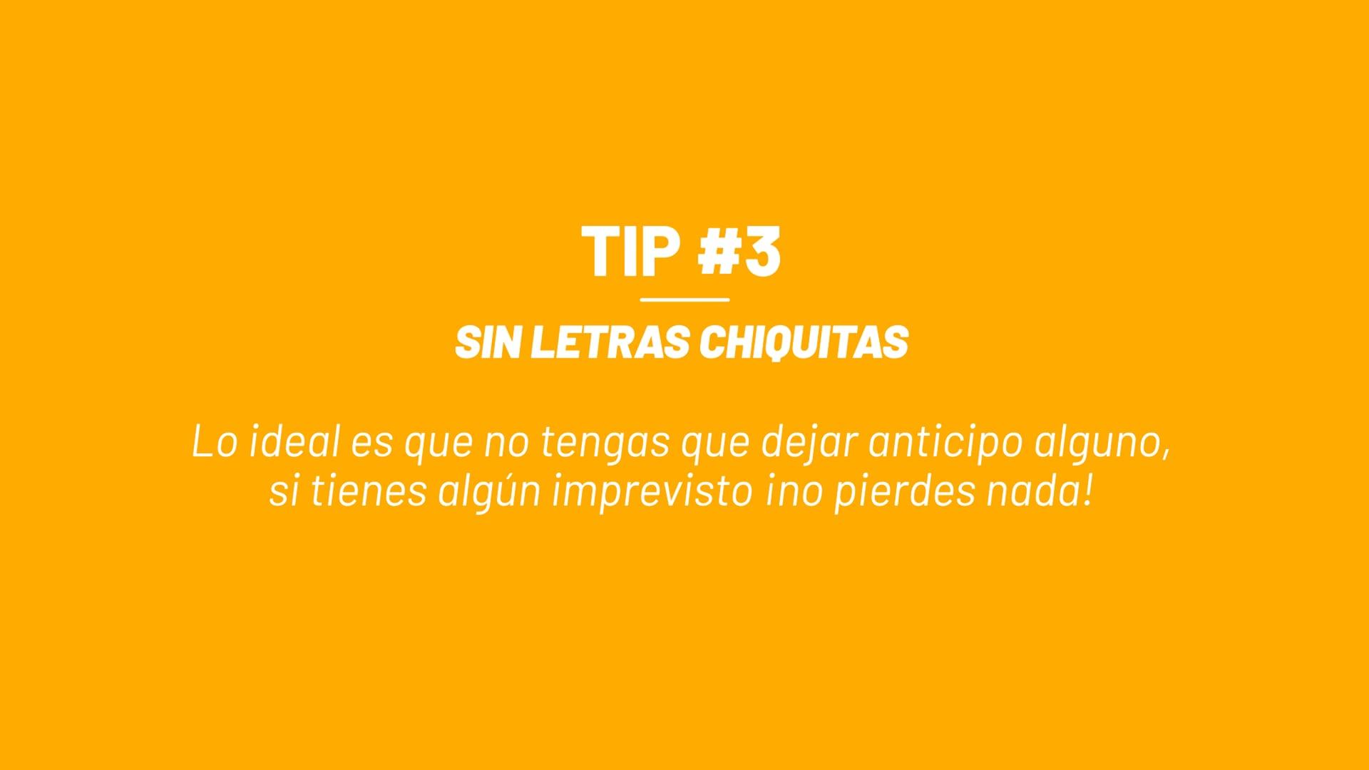 Tip #3 - Sin Letras Chiquitas