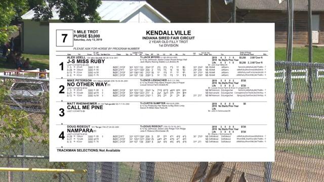 07-13-2019 Kendallville Race 7