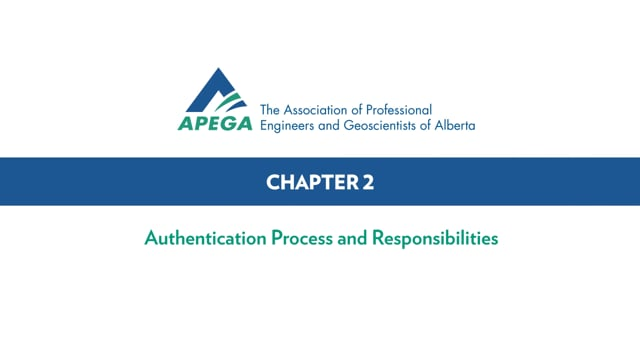 Authentication Standard eLearning Chapter 2