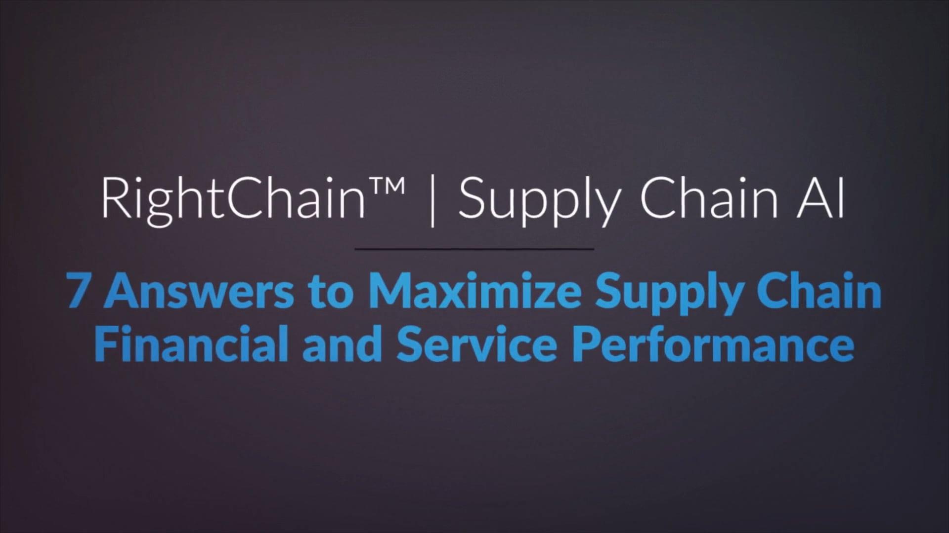 RightChain | Supply Chain AI