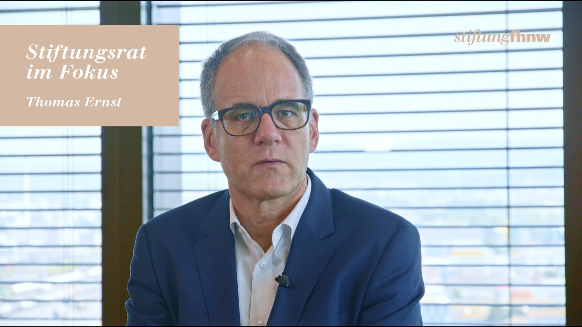 Testimonial Thomas Ernst – StiftungFHNW 2019