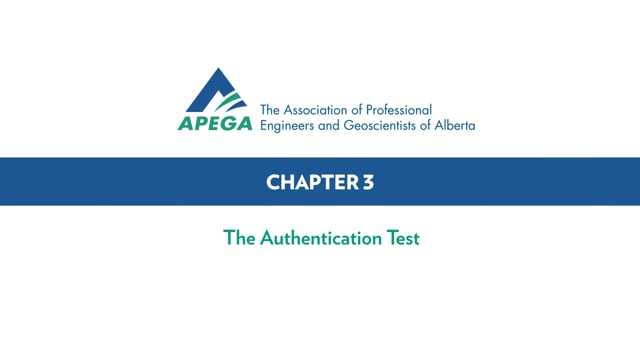 Authentication Standard eLearning Chapter 3