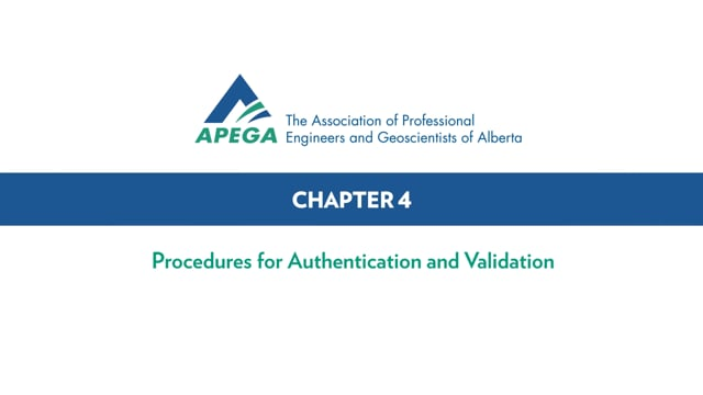 Authentication Standard eLearning Chapter 4-0
