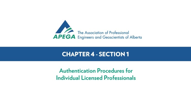 Authentication Standard eLearning Chapter 4-1