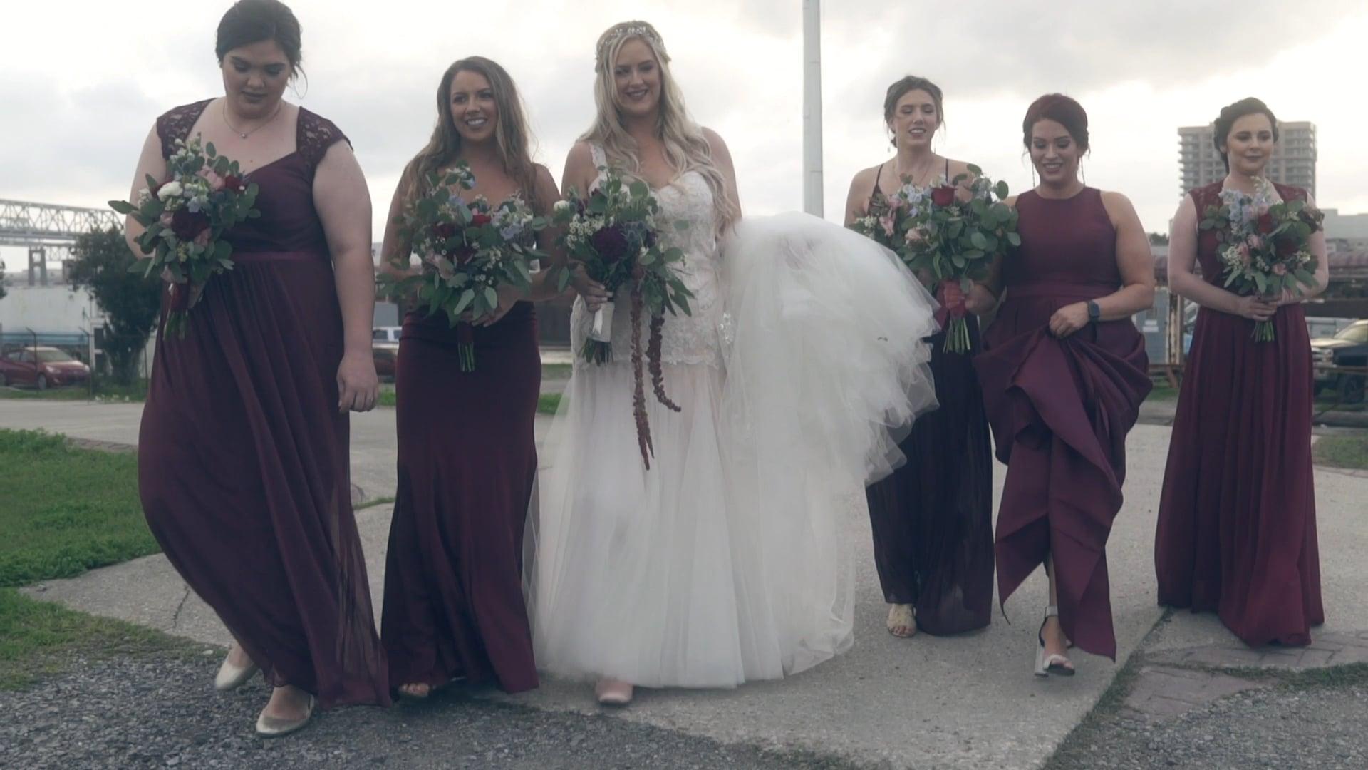 Emily & Scott | Instagram Highlight | A Sunset Wedding on Algiers Point