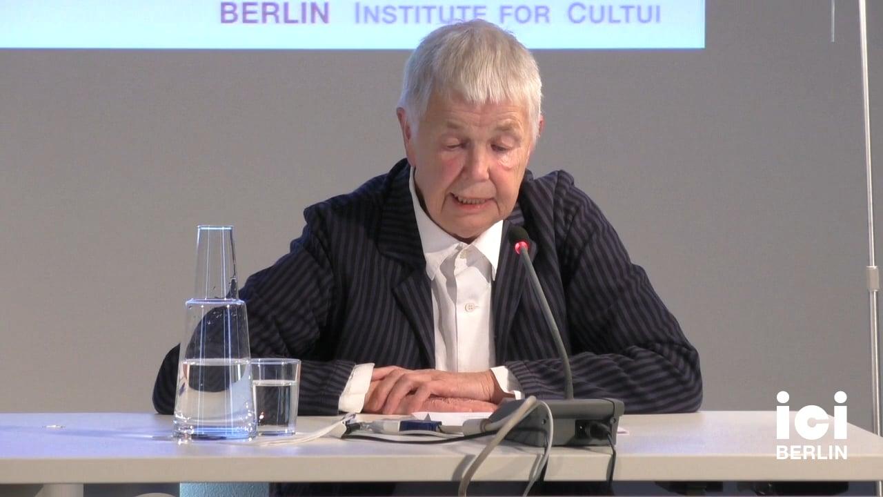 Talk by Marianne Schuller