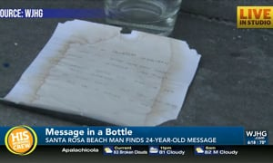 Message in a Bottle Travels 24 Years Before Being Found