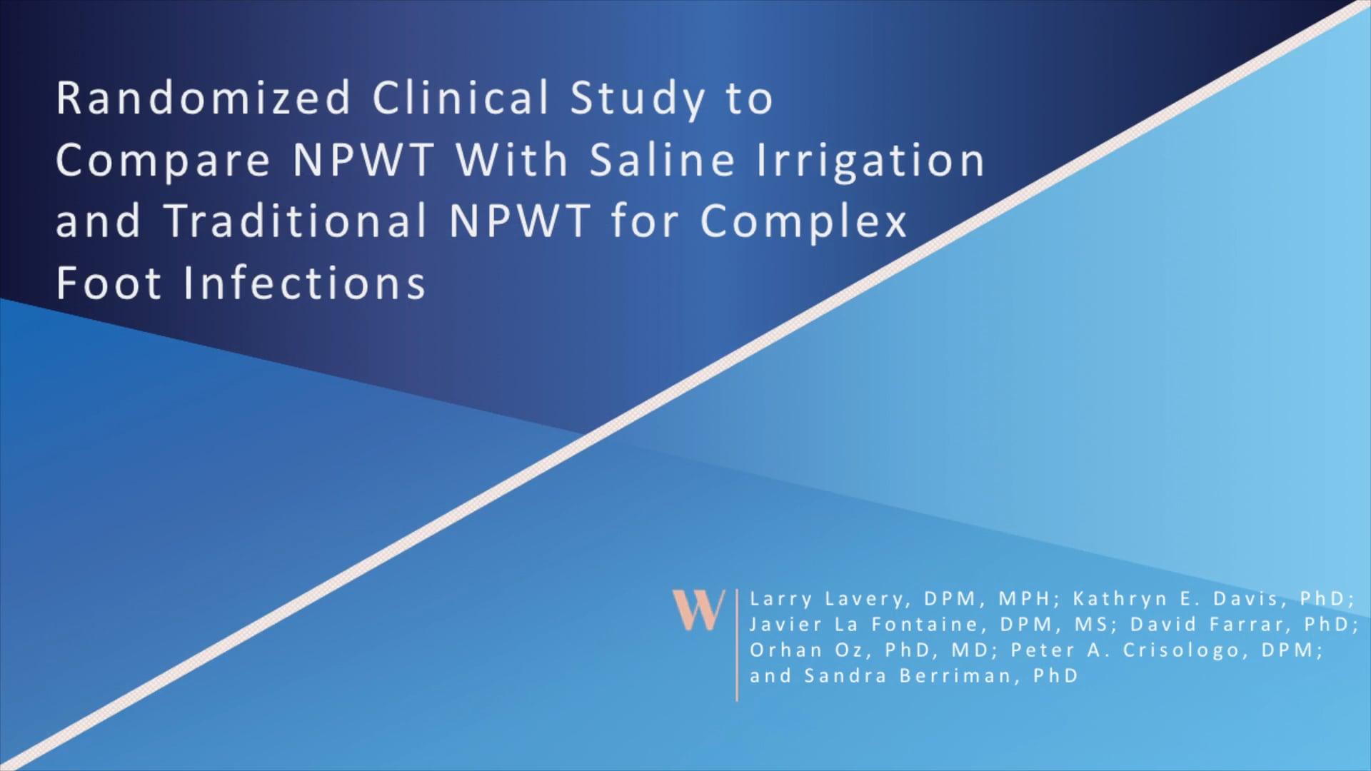 Cardinal Health™ NPWT: Randomized Clinical Study