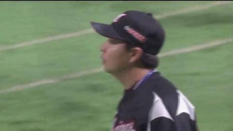 【6回裏】反撃は許さない!! マリーンズ・松永が満塁のピンチをダブルプレーで抑える!! 2019/7/25 H-M