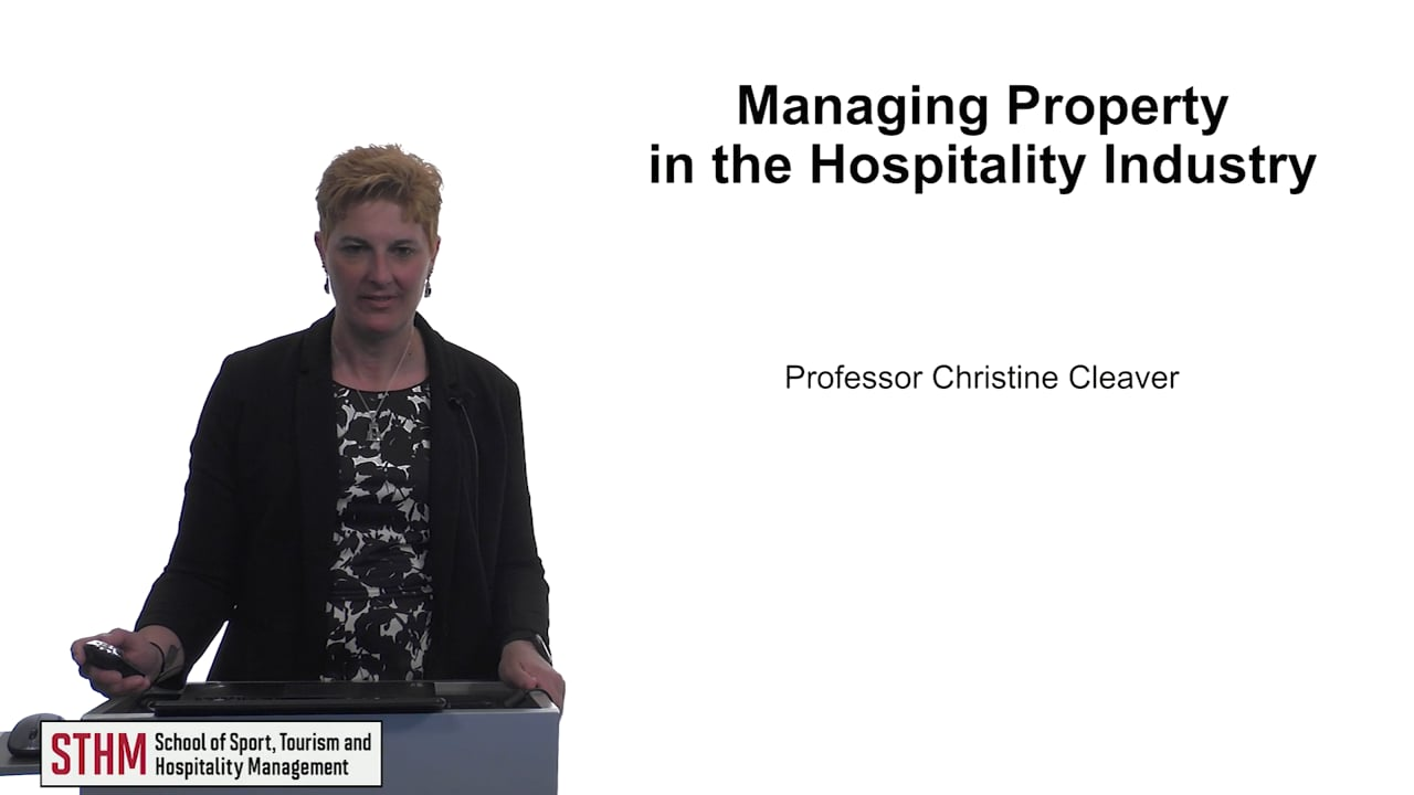 61513Managing Property in the Hospitality Industry