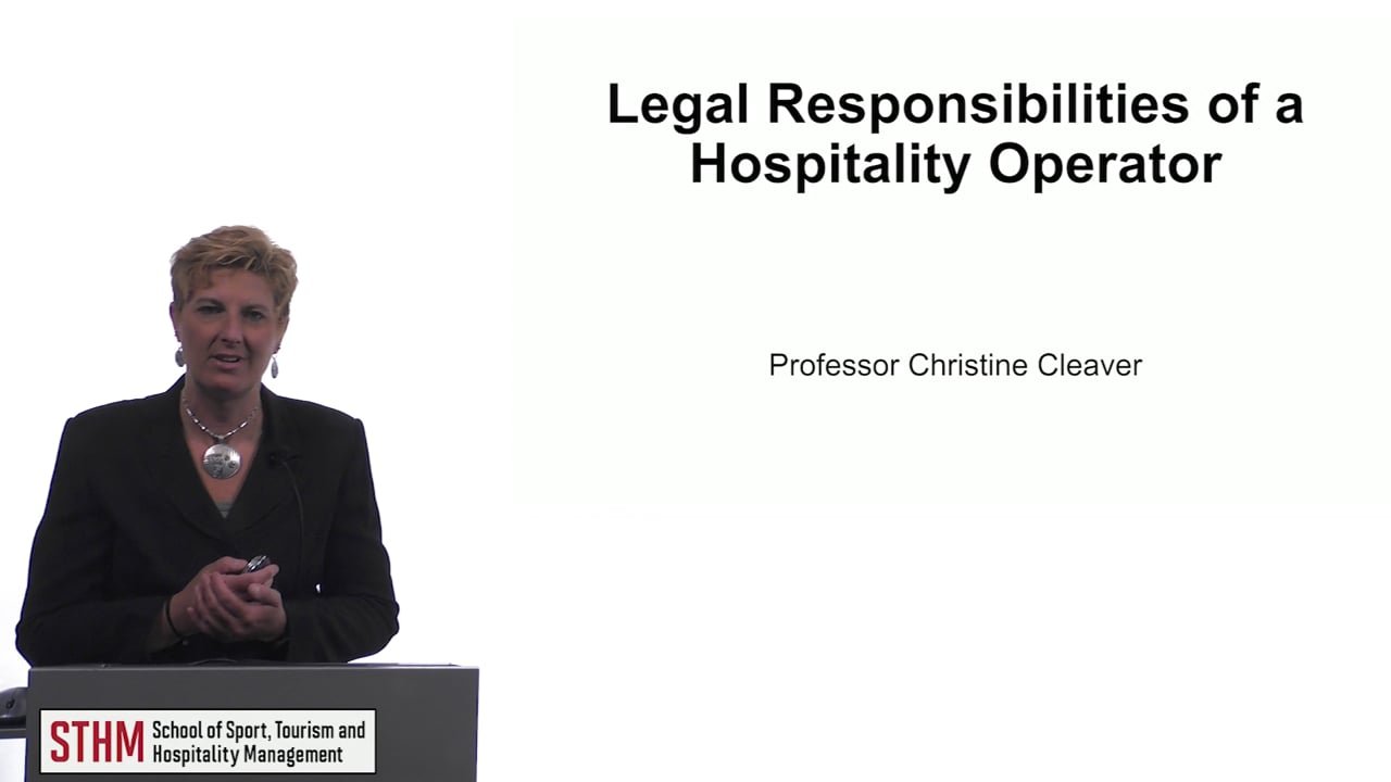 61516Legal Responsibilities of a Hospitality Operator