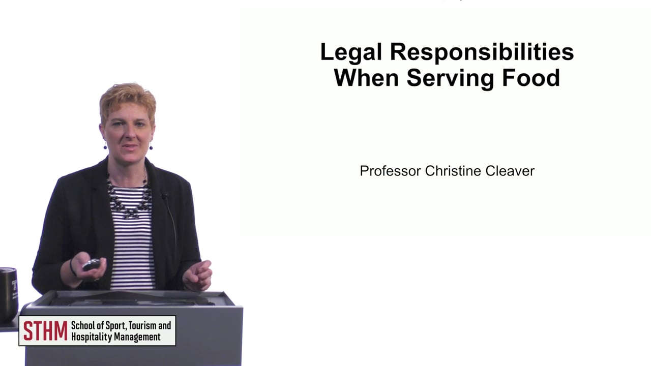 61519Legal Responsibilities When Serving Food