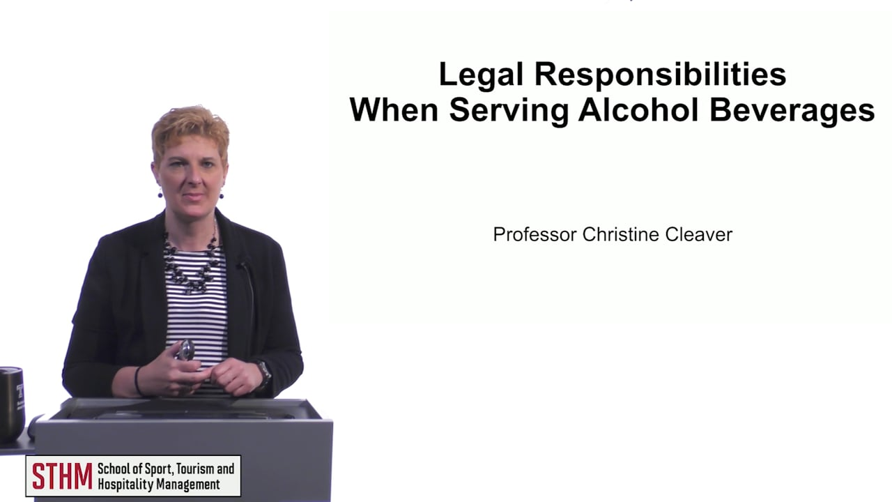 61521Legal Responsibilities When Serving Beverages