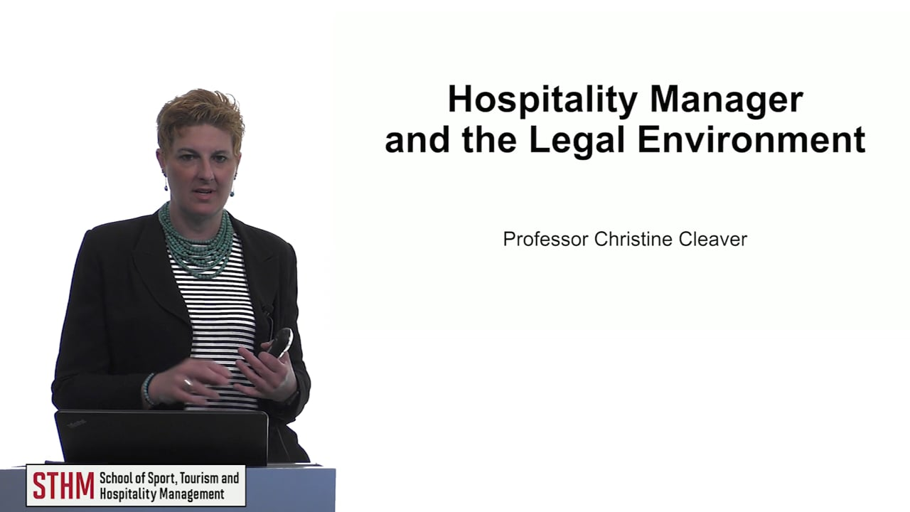 61523Hospitality Manager and the Legal Environment