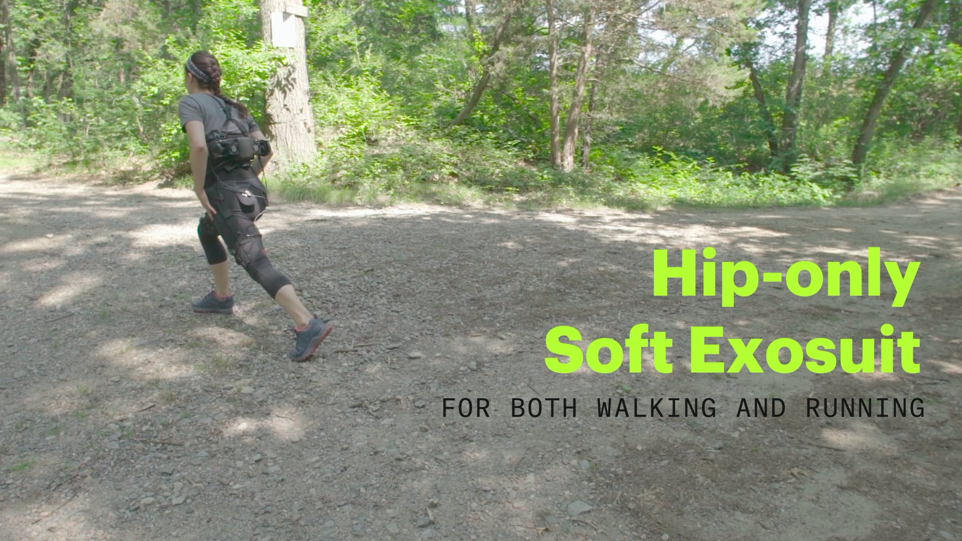 Hip-only Soft Exosuit for both Walking and Running