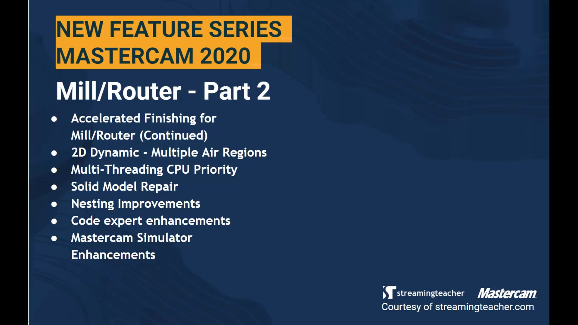 2020 New Feature Series - Mill Part 2