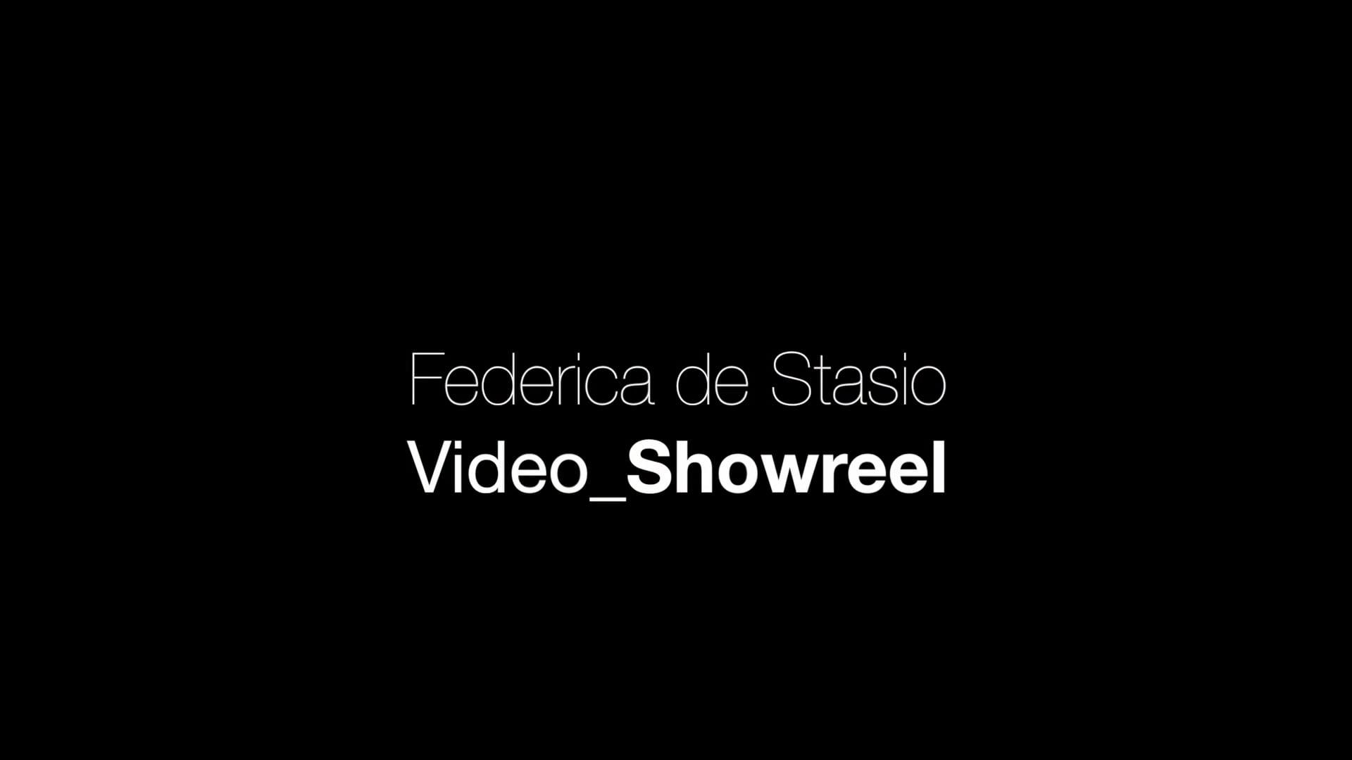 Federica de Stasio VIDEO SHOWREEL